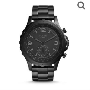 Men's Fossil Nate Black Hybrid Smartwatch